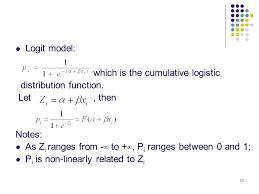 Logit Model Topic 1 Binary Logit Models Ppt Video Online Download