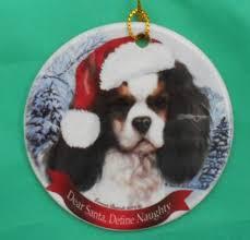 cavalier king charles spaniel dog tri tree decoration