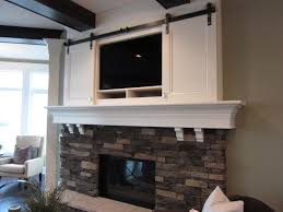 decor tv mount fireplace mantel