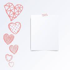 Half Heart Template Folded In Half Leaflet Mock Up Template Vector Illustration