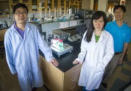 researchers develop new storage cell for solar energy storage dong liu left zi wei center and fuqiang liu an assistant professor in the ut arlington materials science and engineering department are shown