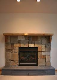 concrete stone wood for great stone and wood fireplace