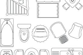 Furniture Symbols For Floor Plans Standard Office On Stock Vector Furniture Icons For Floor Plans