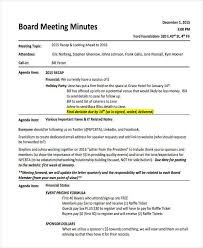 Meeting Recap Template 6 Informal Meeting Minutes Template Free Premium Templates