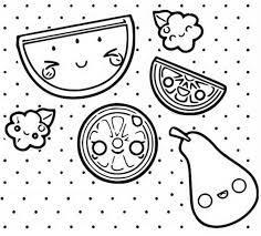 Disegno Da Colorare Kawaii Frutta 5