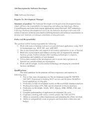 Microsoft Job Description Free Software Engineer Job Description Templates At