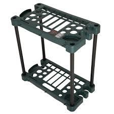 compact long handled tool rack hold 30