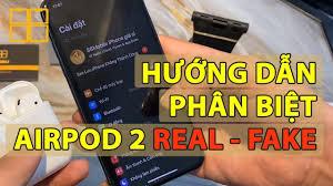 Hướng Dẫn Phân Biệt Tai Nghe Airpods 2 Zin Và Super Fake | 88Mobile -  iPhone Giá Sỉ - YouTube