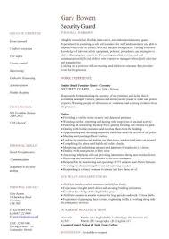Security Jobs Resume Awesome Construction CV Template Job Description CV Writing Building