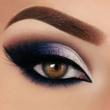 pretty dark silver midnight navy blue makeup smokey eye brows eyebrows gorgeous beautiful pro professional cool