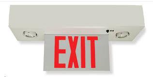 Edge Lit Exit Light Edge Lit Exit Sign Combo With Mr16 Lamps