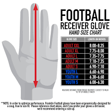 Youth Glove Size Chart Football Franklin Sports Hi Tack Premium Adult Football Receiver Gloves