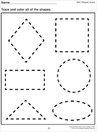Kindergarten Math Worksheet 1000 Images About Preschool Shapes On ...