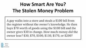 The Problem Math How viral Riddle You Smart Are Bill Stolen qxnztZRO
