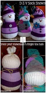 diy sock snowman crafts diy cutest sock snowman tutorial