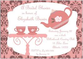 Tea Party Invitation Cards Template Resume Examples