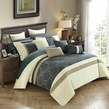 16 piece bedding set chic home piece comforter set quilted embroidered designer bed in a bag