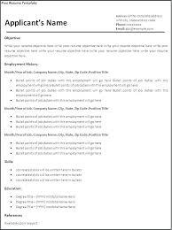 Microsoft Word Job Resume Template
