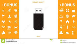 Flash Memory Design Usb Flash Memory Drive Icon Stock Vector Illustration Of