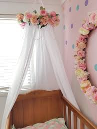 Decorative floral bed canopy