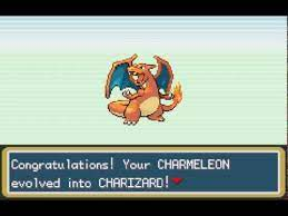 charmeleon evolves into charizard