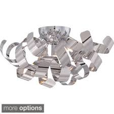 cool flush mount ceiling fans. Quoizel Platinum Collection Ribbons 4-light Polished Chrome Large Flush Mount Cool Ceiling Fans G