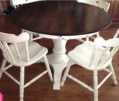 table and chairs painted with annie sloan chalk paint table and chairs in old white chalk paint