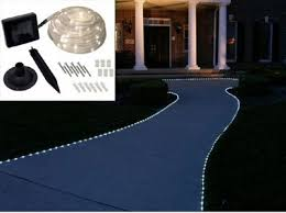 view bench rope lighting. solar powered 50 led rope lighting white view bench h
