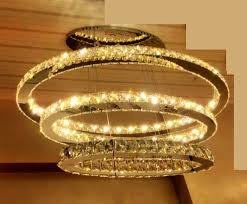 modern oval shaped crystal chandelier