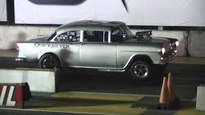 irwindale dragstrip 11/14/13 quicksilver 55 chevy gasser tnt - YouTube