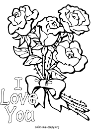 Small Picture Printable Roses To Color Rose And Heart Drawing Printable Coloring