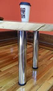 polished chrome metal table legs 1 png