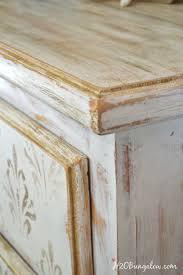 gold distressed damask dresser