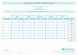 Excel Weekly Timesheet Template Weekly Time Sheets Template Timesheet Free Download With Breaks