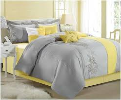 yellow and grey duvet covers