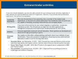 Extra Curricular Activities In Resume Extracurricular Activities On