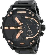mens watches new diesel dz7312 mr daddy 2 0 black ion plated stainless steel men s watch