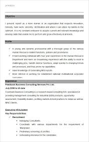 Executive HR And Admin Sample Resume