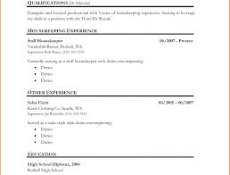 How To Write A Resume For Housekeeping Job Youtube Photo Examples