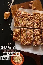 healthy 5 ing granola bars minimalistbaker
