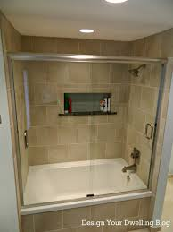 Glass Tubs Bathroom Picturesque Sliding Glass Shower Cubicle With White Tubs