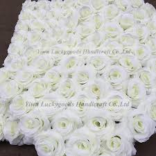 White Paper Flower Wall White Paper Rose Flower Wall Painting Roll Up Wedding Flower Wall