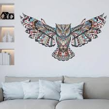 removable colorful owl kids nursery rooms decorations wall decals birds flying animals vinyl wall stickers self