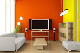 Orange Paint Living Room Futuristic Living Room Yellow Orange Interior Design Color Scheme