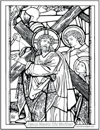 Stations Of The Cross Coloring Pages Pdf The Of For Stations Cross