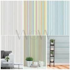 coloroll martez stripe wallpaper multi blue and grey feature wall decor new