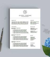 Resume Templates & Design : Resume Template 4 Page | Artist Cv ...