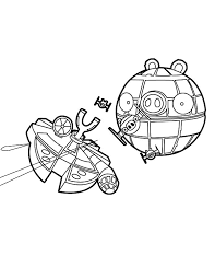 Small Picture The Death Star Angry Bird Star Wars Coloring Pages The Death Star