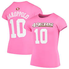 Youth Pink Girls T-shirt Jimmy Number Name Player San amp; Mainliner Francisco 49ers Garoppolo