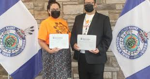 Summer Bero and Benjamin Herne Take Oath of | Saint Regis Mohawk Tribe